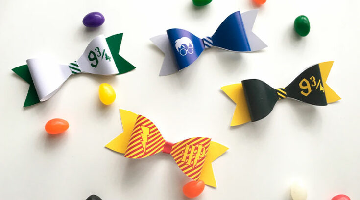 DIY Harry Potter Paper Bows (with Free Printable)