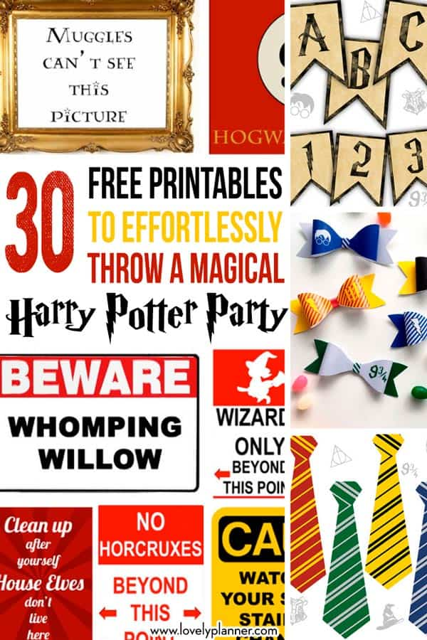 30 Harry Potter Party Free Printables