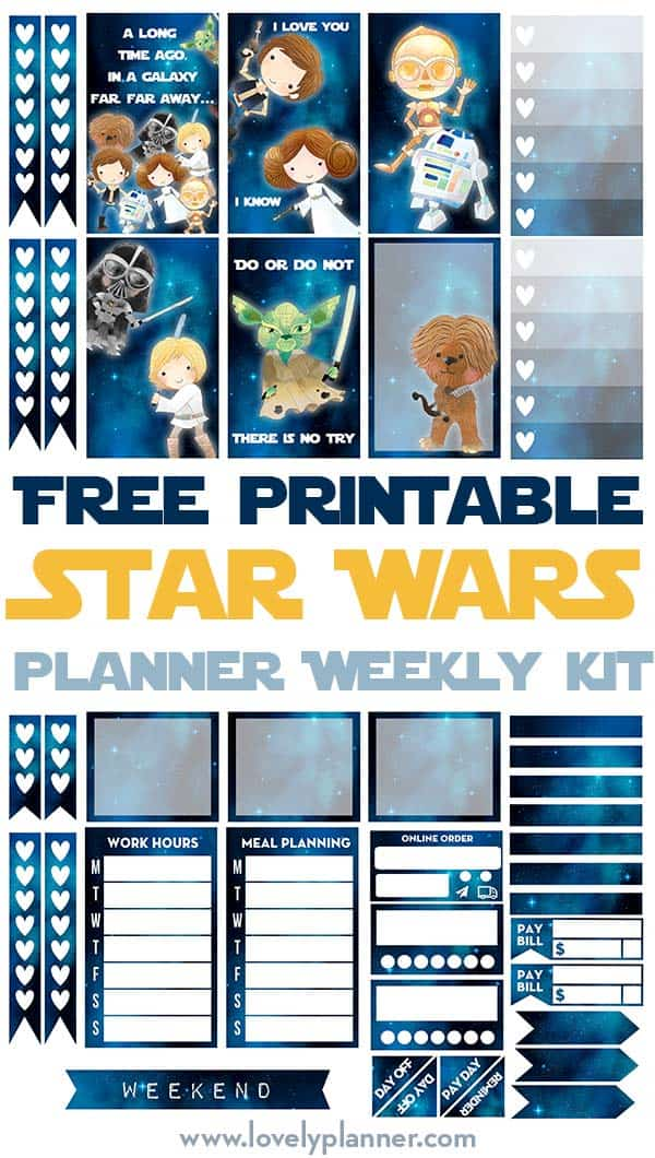 free printable star wars planner stickers