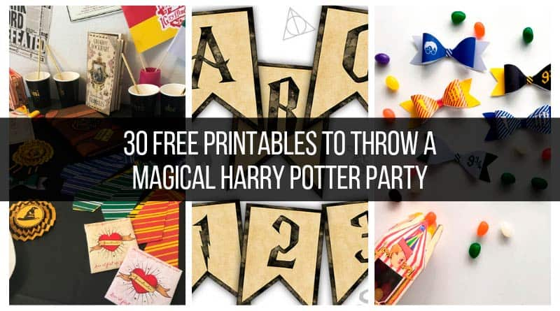 30 Free Printables To Throw A Magical Harry Potter Party Lovely Planner