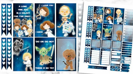 Free Printable Star Wars Planner Stickers Weekly Kit