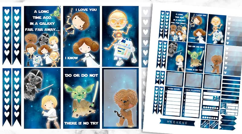 photograph relating to Printable Star Wars Images named Free of charge Printable Star Wars Planner Stickers - Weekly Package