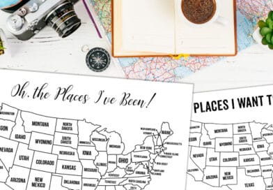 13 Free Printable USA Travel Maps for your Bullet Journal – USA Map Coloring Pages