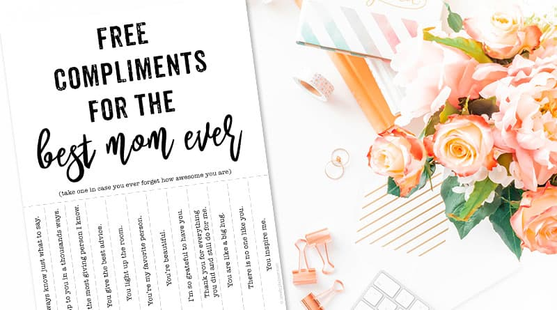 Free Printable Mother's Day DIY Gift Tearable Compliments