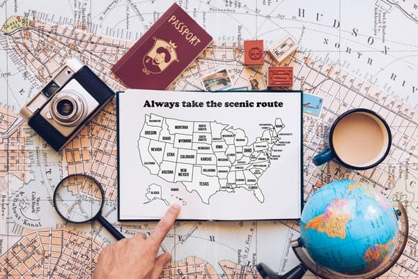 Free Printable Bullet Journal USA Travel Map Coloring Page