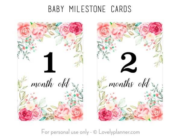 Free Printable Baby Milestone Cards