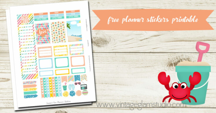 Summer Fun Planner Stickers