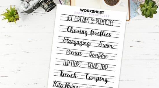 graphic about Lettering Printable identified as Lettering Educate Worksheets Archives - Magnificent Planner