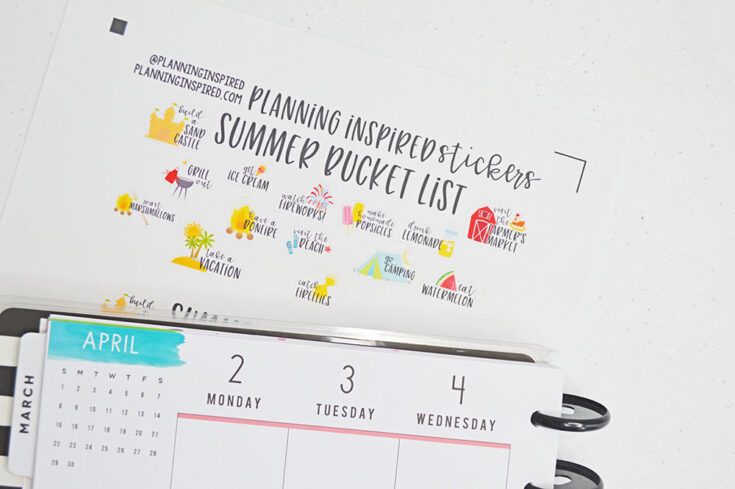 Summer Bucket List Stickers