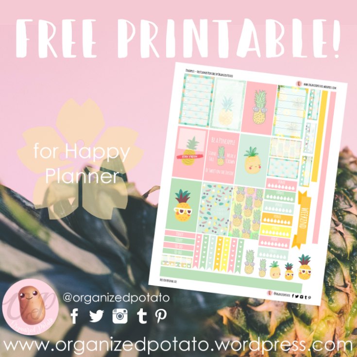 Kawaii Pineapples Planner Stickers