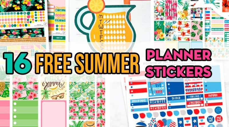 16 Free Printable Summer Planner Stickers