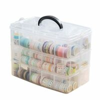 Washi Tape Storage Box with 30 compartments