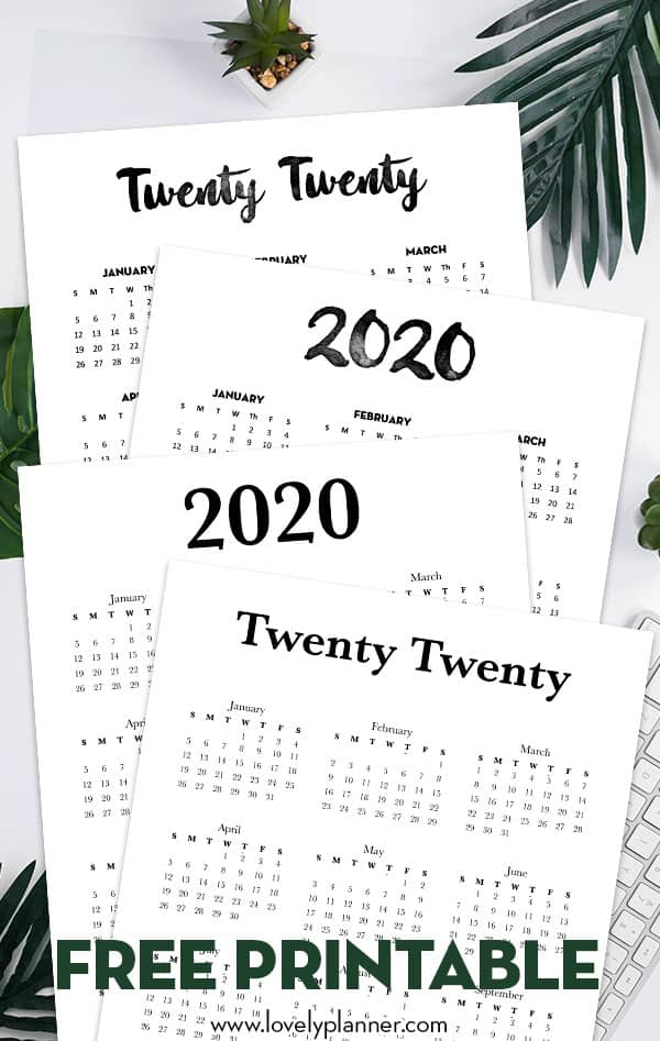 This is an image of Exceptional Printable Planner Pages 2020