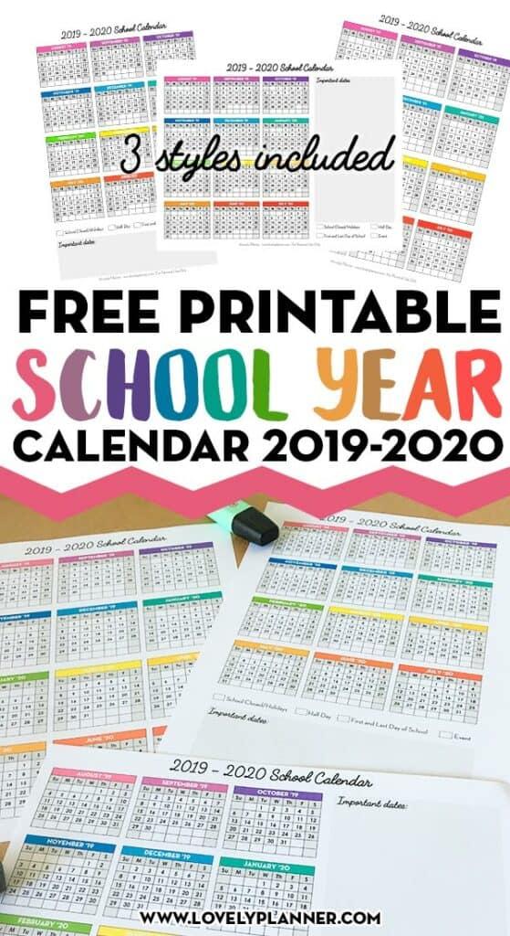 free printable 2019