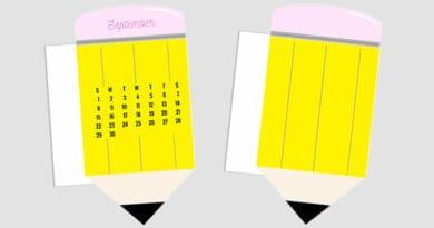 Pencil Calendar Divider Planner Free Printable