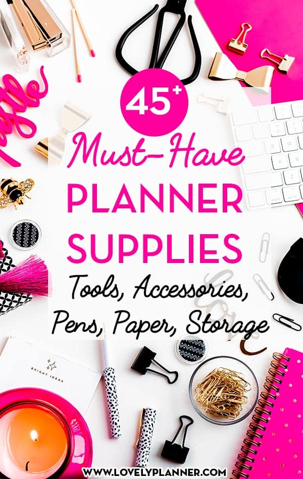 Must Have Planner Supplies