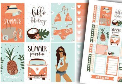 Free Printable Summer Planner Stickers Weekly Kit