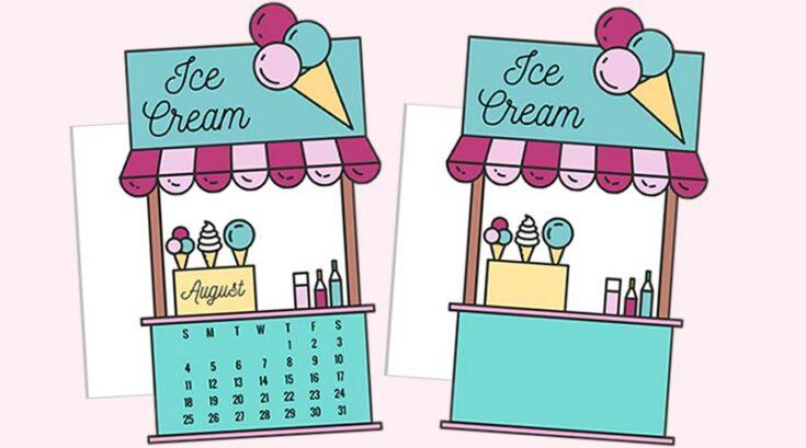 Ice Cream Booth Planner Divider / Die-Cut