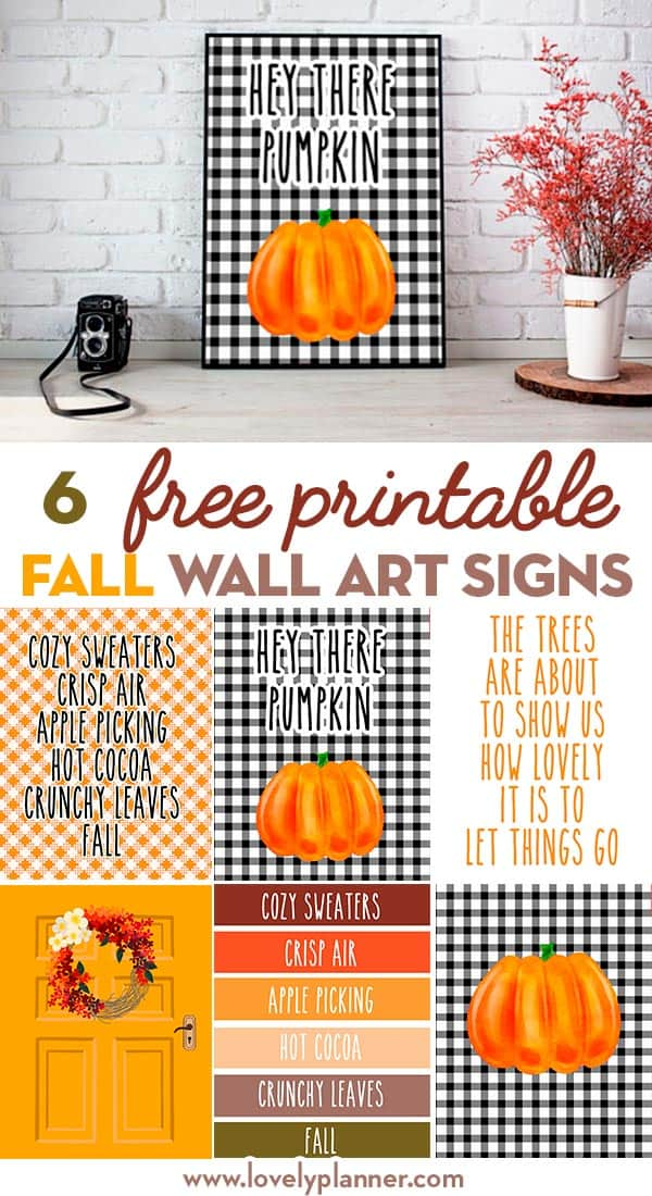 fall wall art signs free printable