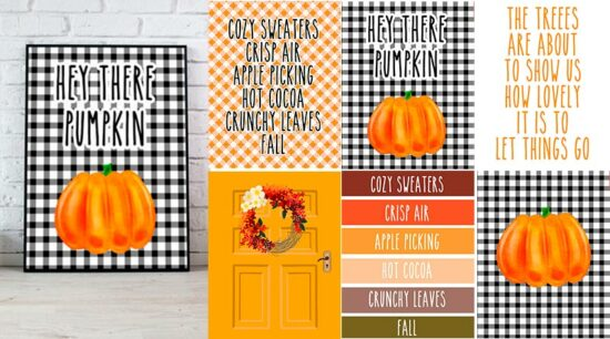 6 fall wall art signs free printable