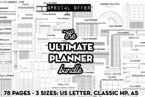 sale the ultimate planner bundle – printable planner inserts