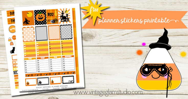 Wacky Witches Planner Stickers Printable