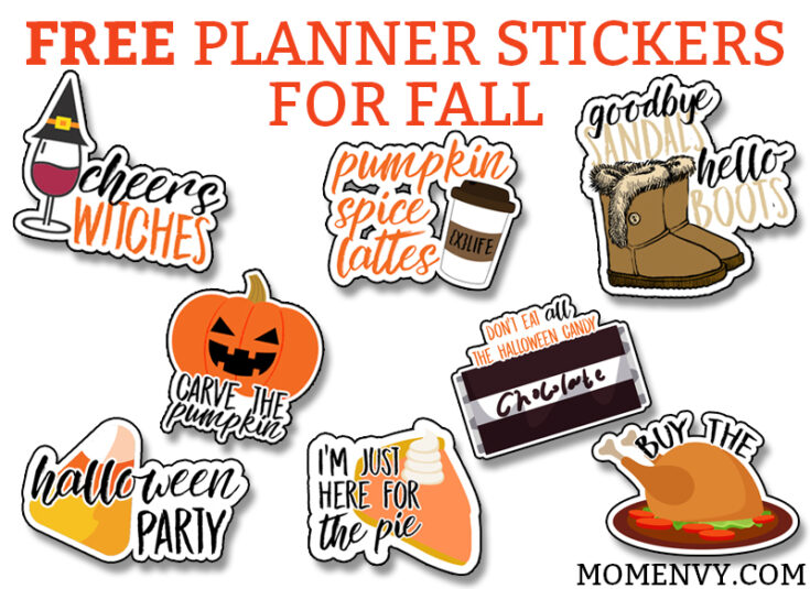 Free Fall Planner Stickers – 38 Different Designs