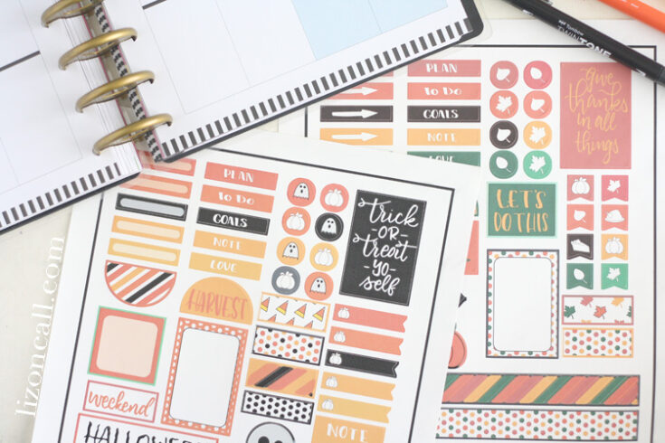 Free Happy Planner Stickers Kit for Halloween and Fall
