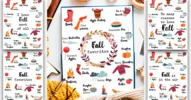 Free Fall Favorites Printable