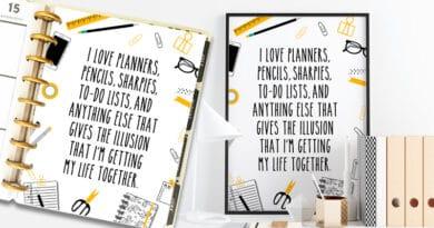Free Printable Planner Girl Sign