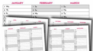 Free Printable 2020 Quarterly Calendar - Calendex