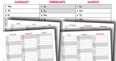 Free Printable 2020 Quarterly Calendar - Calendex