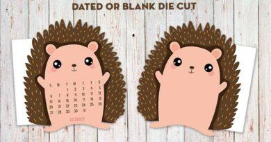 Free Printable Hedgehog Planner Divider Die cut