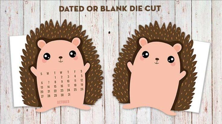 Hedgehog Planner Divider/Die-Cut