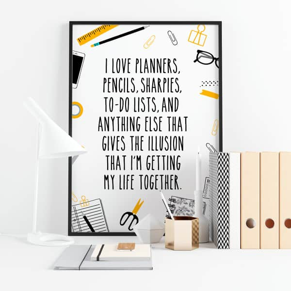 Free Printable Planner Girl Sign