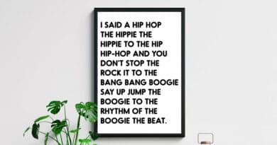 Free Printable Rappers Delight Lyrics Sign Hip Hop