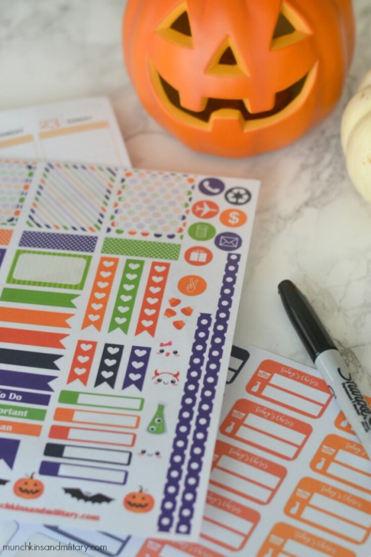 October Planner Stickers