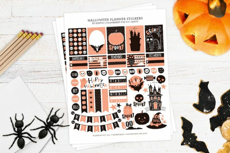 Free Halloween Stickers for Your Planner