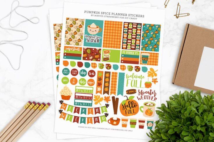 Pumpkin Spice Free Planner Printable