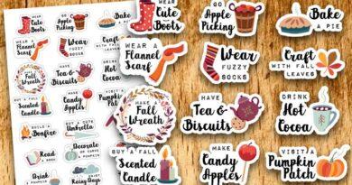 21 Free Printable Fall Bucket List Planner Stickers