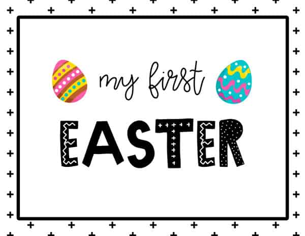 My first Easter Sign Free Printable