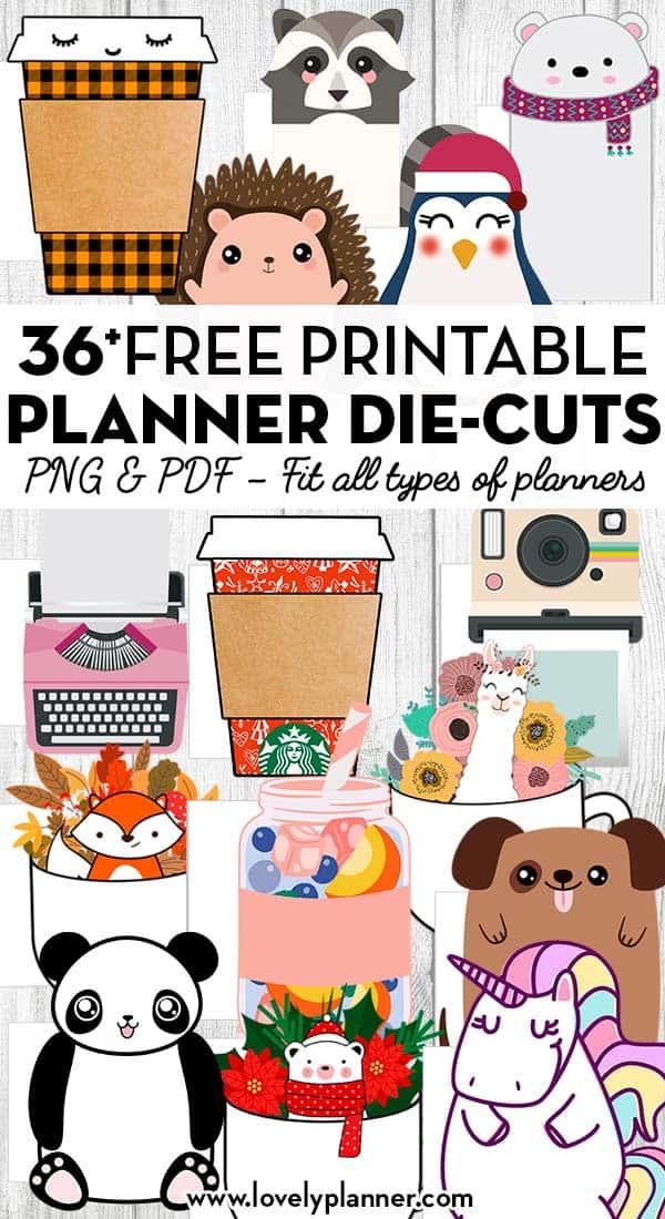 36 Free Printable Planner Die Cut