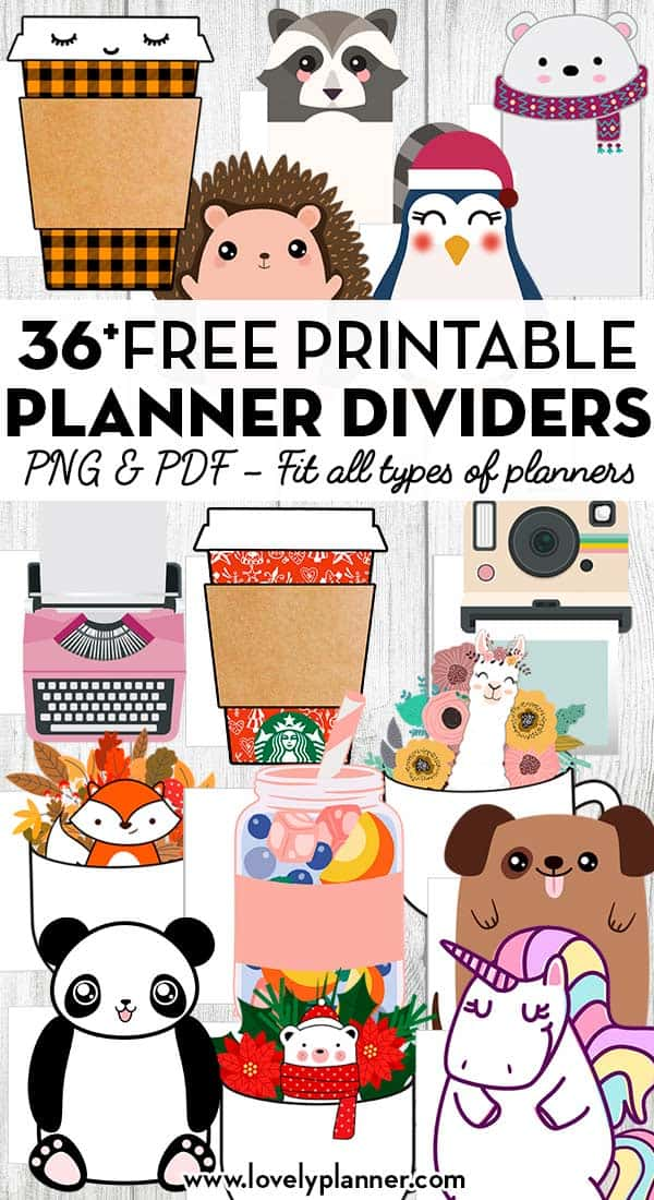 36 Free Printable Planner Dividers Die Cuts