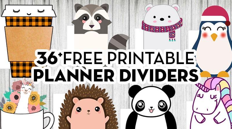 36 Free Printable Planner Divider Die Cut