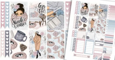 Free Printable Sweater Weather Planner Stickers Weekly Kit