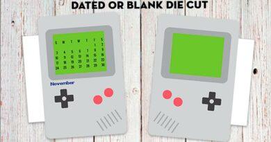 free printable retro video game planner divider