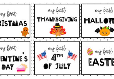 Free Printable Baby's First Holidays Photo Signs