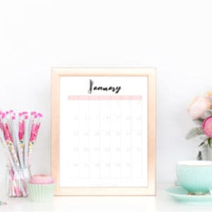 Free 2020 Printable Calendar To Help You Organize Your Life