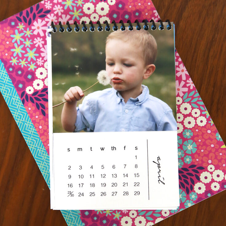 DIY mini 2020 photo calendar {free printable templates}