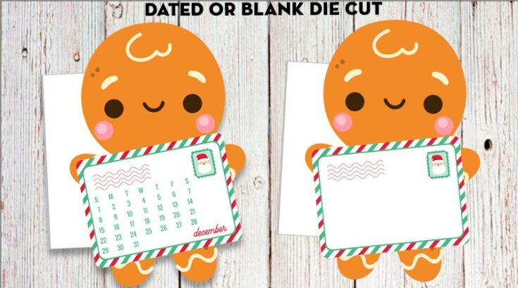 Free Printable Gingerbread Mailman Planner Divider